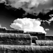 Clouds Over Santa Fe Art Print
