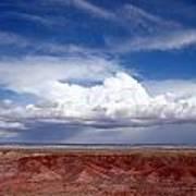 Clouds Over The Badlands Art Print