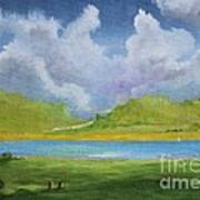 Clouds Over The Lake Art Print
