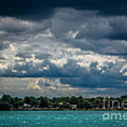 Clouds Over The River Art Print