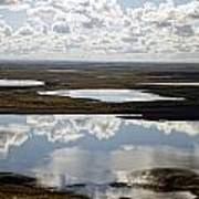 Clouds Reflected In Aleutian Lakes Art Print