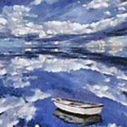 Clouds Reflection  Art Print