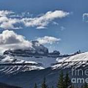 Clouds Sky Mountains Art Print