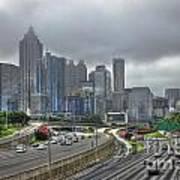 Cloudy Atlanta Capital Of The South Art Print