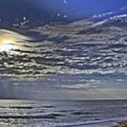 Cloudy Day At The Beach Art Print