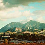 Cloudy Day On Mt Diablo In San Francisco Bay Area Art Print by Dorothy Walker