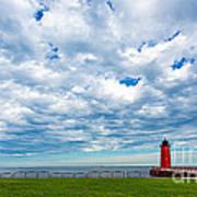 Cloudy Milwaukee Harbor Art Print
