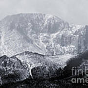 Cloudy Misty Pikes Peak Art Print