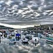 Cloudy Morning - Lyme Regis Harbour Art Print