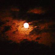 Cloudy Night Sky Art Print
