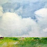 Cloudy Summerday Art Print