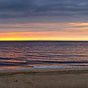 Cloudy Sunrise On Nauset Beach Art Print