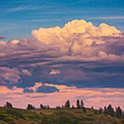 Cloudy Sunset Art Print by Omaste Witkowski