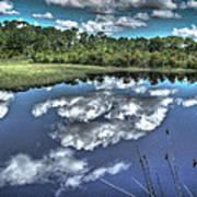 Cloudy Waters Art Print