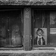 Clown In The Window Art Print