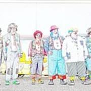 Clown Lineup Art Print
