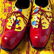 Clown Shoes And Balls Art Print
