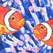 Clownfish Couple Art Print