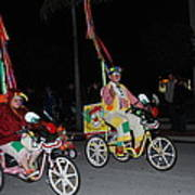 Clowns On Bikes Art Print
