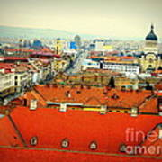 Cluj From Above Art Print