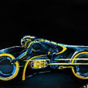 Clu's Lightcycle Art Print