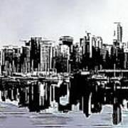 Vancouver  Canada Coal Harbour Triptych Left Panel Art Print