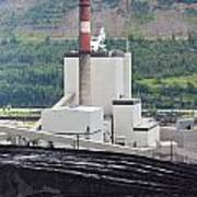 Coal Mine Electrical Energy Power Plant In Nature Art Print