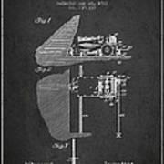 Coal Mining Machine Patent From 1903- Charcoal Art Print