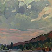 Coast At Sunset Art Print by Juliya Zhukova