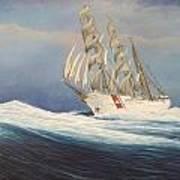 Coast Guard Bark Eagle Art Print