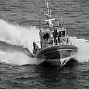 Coast Guard In Black And White Art Print