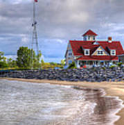 Coast Guard Station In Muskegon Art Print