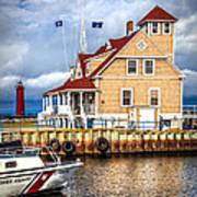 Coast Guard Station On Muskegon Lake Art Print