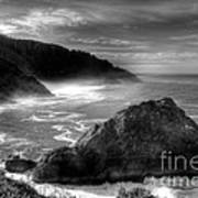 Coast Of Dreams 7 Bw Art Print