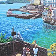 Coast Of Plymouth City Uk Art Print