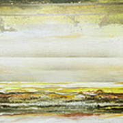 Coast Rhythms And Textures Yellow And Sepia 1  Art Print by Mike   Bell
