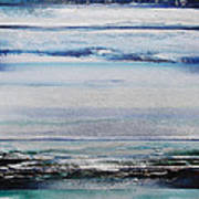 Coast Rhythms And Texturesblueand Silver 1 Art Print