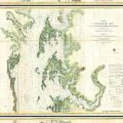 Coast Survey Map Of The Chesapeake Bay  Art Print
