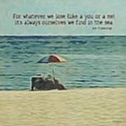 Coastal Beach - E.e. Cummings Sea Quote Art Print