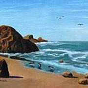 Coastal Oregon II Art Print