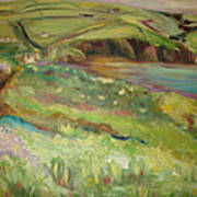 Coastal Path In Wales Art Print by Ellen Howell