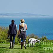 Coastal Path Walk Art Print