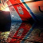 Coast Guard Uscg Alert Wmec-630 Art Print by Aaron Berg