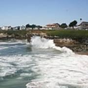 Coastline  Santa Cruz -  California Art Print