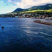 Coastline Of St Kitts Art Print
