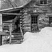 Slayton Pasture Cobber Cabin Trapp Family Lodge Stowe Vermont Art Print