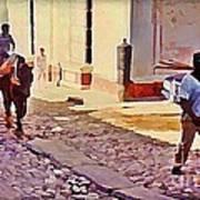 Cobble Stone Streets Of Cuba Art Print