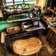 Cobblers Sewing Machine Art Print