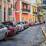 Cobblestone Streets Of San Juan Puerto Rico Art Print