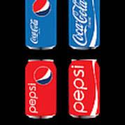 Coca Cola And Pepsi Art Print